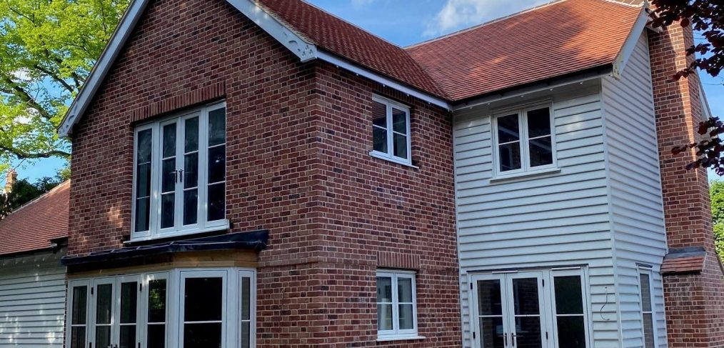 Flush windows and french doors in new build colchester essex