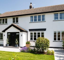 Flush Casement heritage Windows in Arts and Crafts Home