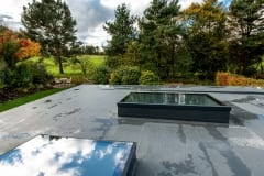 Large Glass Flat Rooflight by Atlas Roofs