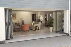 Fully Opened Aluminium Folding Doors