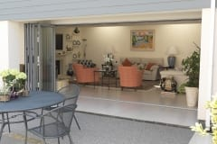 Supplier and Installer of Grey Aluminium Bifolding Doors