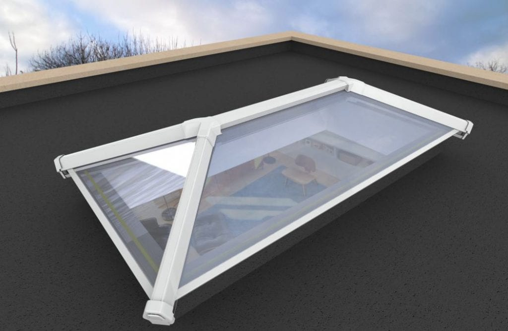 basic upvc and aluminium lantern roof